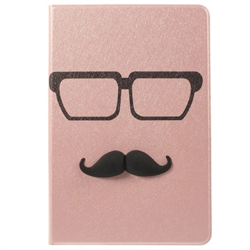 3D Smart L?rveske - iPad Mini, iPad Mini 2, iPad Mini 3 - Moustache