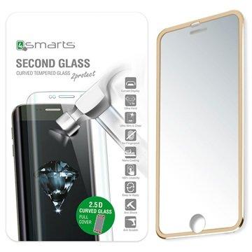 iPhone 7 4smarts Colour Rim Glass Skjermbeskytter - Gull