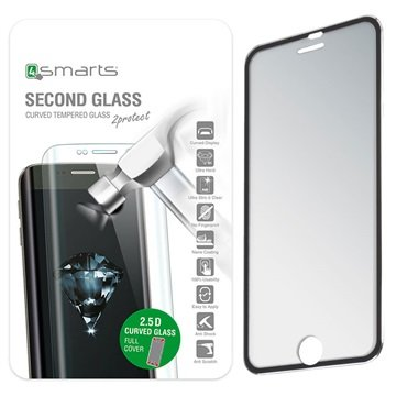 iPhone 7 Plus 4smarts Colour Rim Glass Skjermbeskytter - Svart
