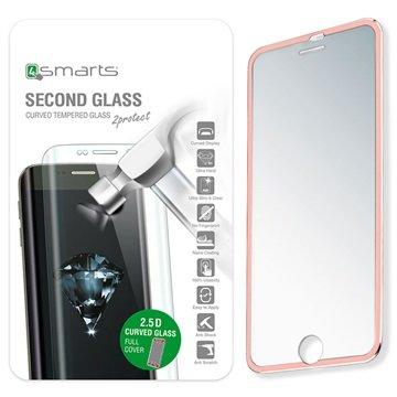 iPhone 7 4smarts Colour Rim Glass Skjermbeskytter - Roségull