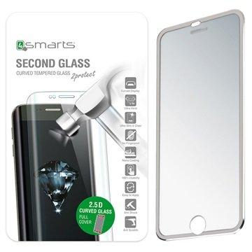 iPhone 7 4smarts Colour Rim Glass Skjermbeskytter - Sølv