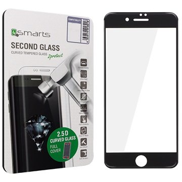 iPhone 7 Plus 4smarts Kurvet Glass Skjermbeskyttelse - Svart