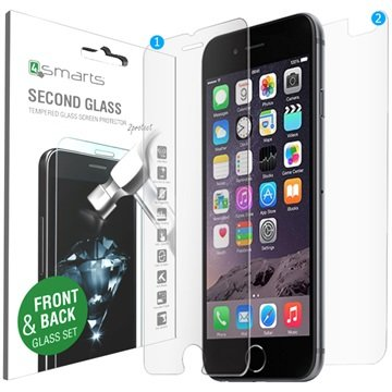 iPhone 6 / 6S 4smarts Second Glass Skjermbeskyttelsessett