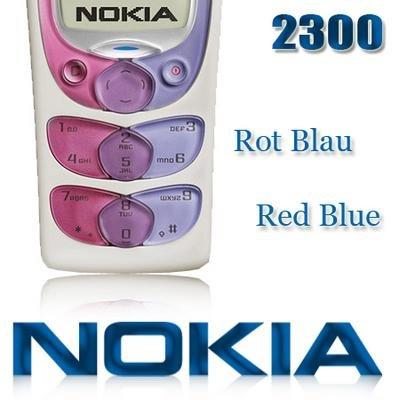 Nokia 2300 Tastatur - Rød / Blå