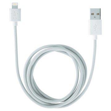 Belkin Lightning / USB Lade-/synkroniseringskabel - Hvit - 2m