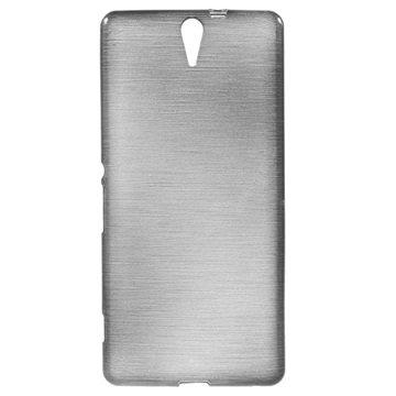 Sony Xperia C5 Ultra, Xperia C5 Ultra Dual Brushed TPU Deksel - Grå
