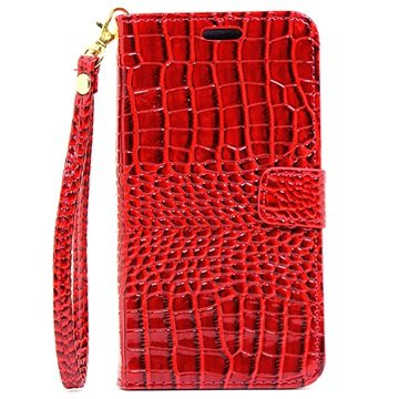 Samsung Galaxy C5 Crocodile Lommebok-Deksel - Rød