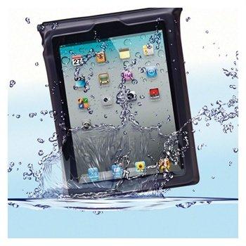 DiCAPac WP-i20 Vanntett Veske - iPad, iPad 2, iPad 3, iPad 4 - Svart / Gjennomsiktig