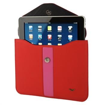 iPad 1, iPad 2 Maclove Lærveske - Rød