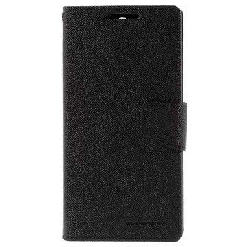 Sony Xperia C5 Ultra Mercury Goospery Fancy Diary Lommebokveske - Svart