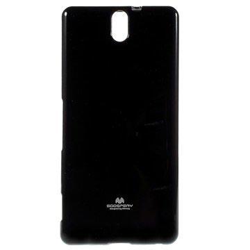 Sony Xperia C5 Ultra, Xperia C5 Ultra Dual Mercury Goospery TPU Deksel - Svart