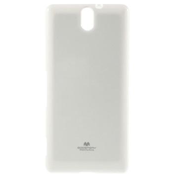 Sony Xperia C5 Ultra, Xperia C5 Ultra Dual Mercury Goospery TPU Deksel - Hvit