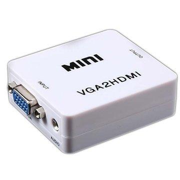 VGA & 3.5mm Audio / HDMI Full HD 1080P Konverter Adapter
