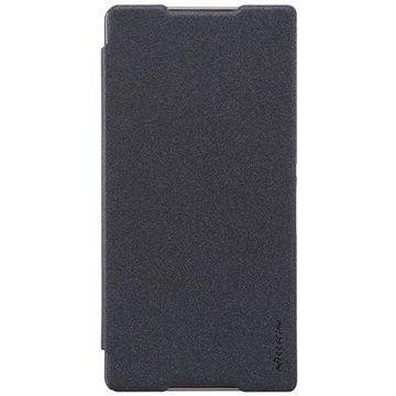 Sony Xperia C5 Ultra Nillkin Sparkle Series Smart Flip Veske - Svart