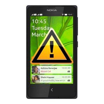 Nokia X+ Reparasjon av SIM-kort Leser