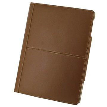 PDair Folio Lærveske - iPad 2, iPad 3, iPad 4 - Brun