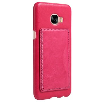 Samsung Galaxy C5 Retro Vippestativ Deksel - Varm Rosa