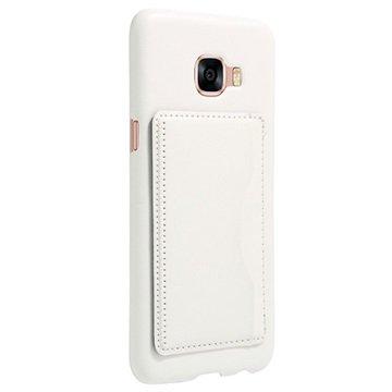 Samsung Galaxy C5 Retro Vippestativ Deksel - Hvit