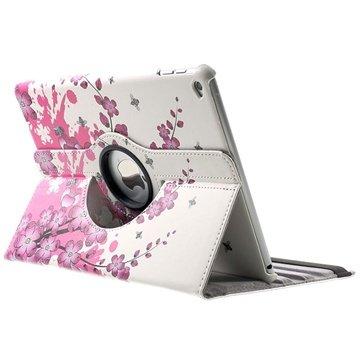 iPad Air 2 Rotary Smart L?rveske - Rosa Blomster
