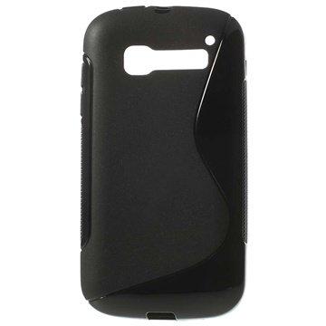 Alcatel One Touch Pop C5 S-Curve TPU Deksel - Svart