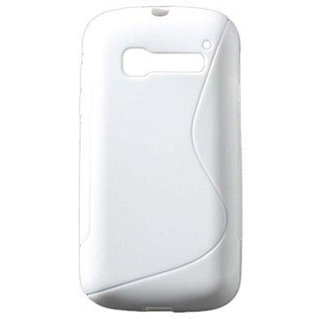 Alcatel One Touch Pop C5 S-Curve TPU Deksel - Hvit