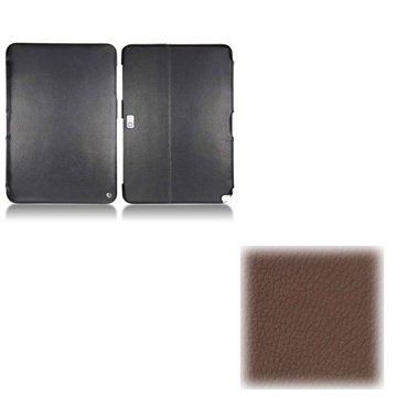 Samsung Galaxy Note 10.1 N8000, N8010 Noreve Tradition Lærveske - Kastanjebrun