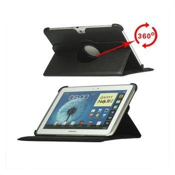 Samsung Galaxy Note 10.1 N8000, N8010 Rotary Lær Veske - Svart
