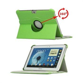 Samsung Galaxy Note 10.1 N8000, N8010 Rotary Lær Veske - Grønn