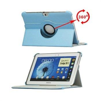 Samsung Galaxy Note 10.1 N8000, N8010 Rotary Lær Veske - Lyseblå