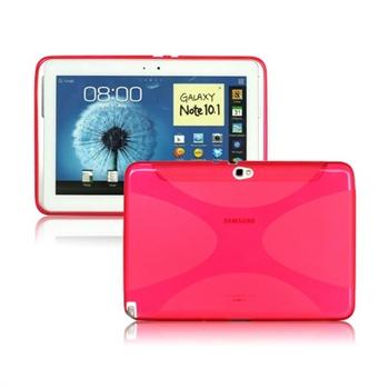 Samsung Galaxy Note 10.1 N8000, N8010 X-Shape TPU Deksel - Rosa