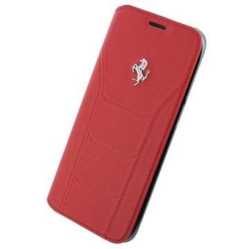 Samsung Galaxy S7 Edge Ferrari 488 Collection Book Veske - Rød