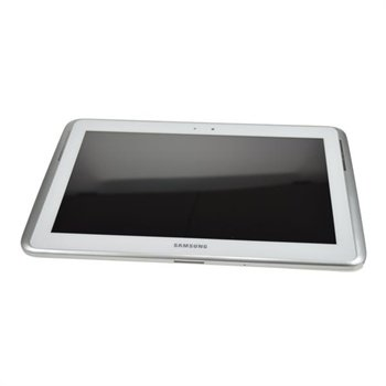 Samsung Galaxy Note 10.1 N8000 Front Deksel & LCD Skjerm - Hvit
