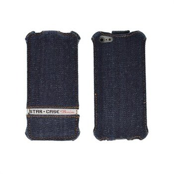 HTC Windows Phone 8X StarCase Roma Flip Veske - Jeans Denim - Blå