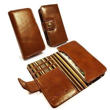 Tuff-Luv Vintage Lommebok L?rveske - iPhone 5 / 5S, iPhone 5C - Brun