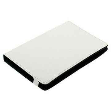 Universal Tablet Book Style L�rveske - 7 - Hvit