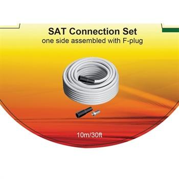 V7 SAT Connection Kabelsett - 10m - Hvit
