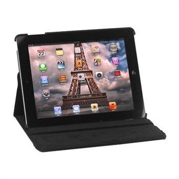 Rotary Lær Veske - iPad 2, iPad 3, iPad 4 - Svart