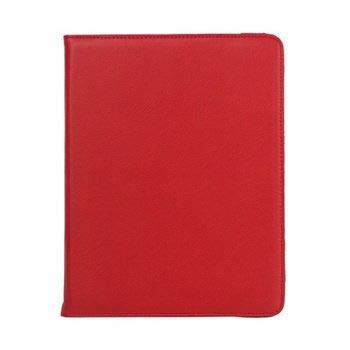 Rotary Lær Veske - iPad 2, iPad 3, iPad 4 - Rød