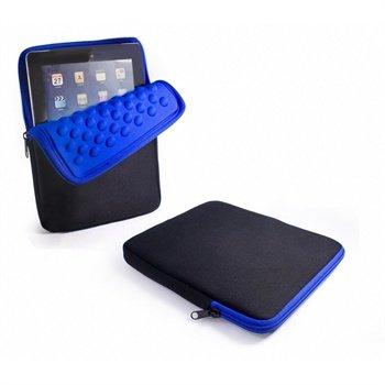 iPad, iPad 2, iPad 3, iPad 4 Tuff-Luv Armour-prene Bubble Veske - Svart / Blå