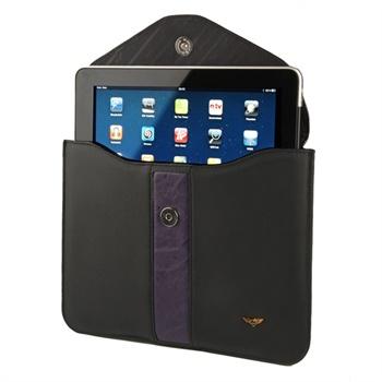 iPad 1, iPad 2 Maclove Lærveske - Svart
