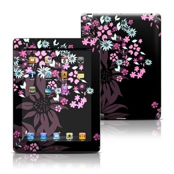 iPad 3, iPad 4 Dark Flowers Skin