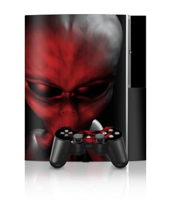 Sony PlayStation 3 Skin - Crimson Abduction