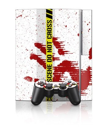 Sony PlayStation 3 Skin - Crime Scene Revisited